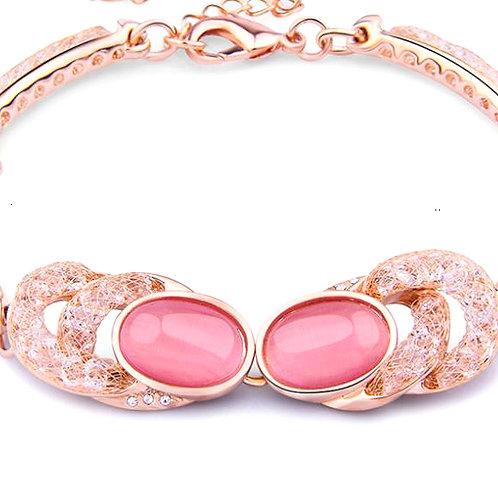 Sexy Pink Cat Eye Bracelet