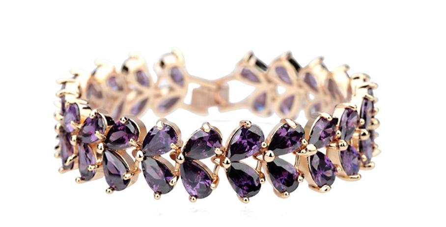 Semi Precious Purple Stone Bracelet