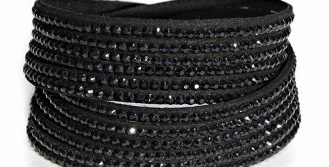 Wrap Around Bling Bracelet (All Black)