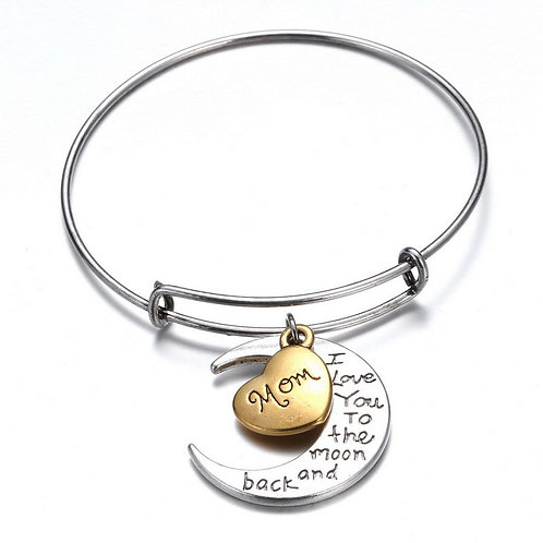 Mom Bangle (Love you to the Moon..n back)