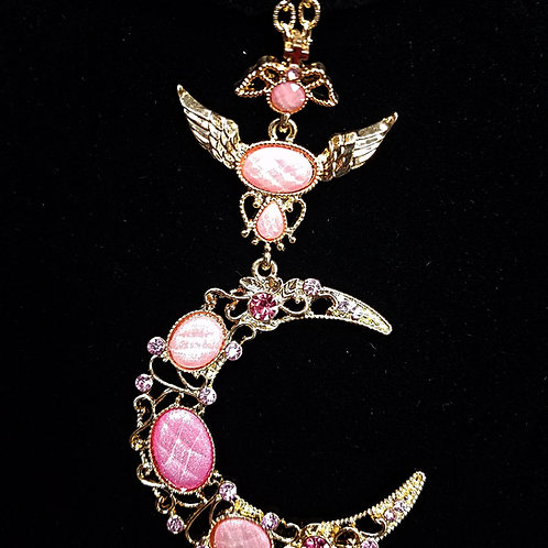 Beautiful Pink Moon Necklace