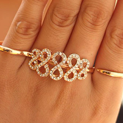 Double Finger Trendy Ring