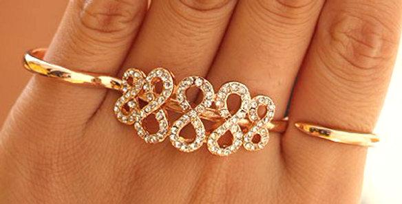 Double Finger Trendy Ring