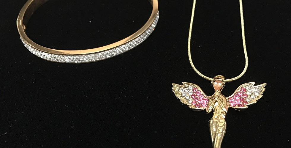 Angel Wing Necklace/Romantic Bangle