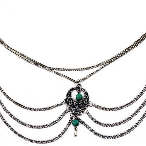 Anitque Silver Plated Anklet