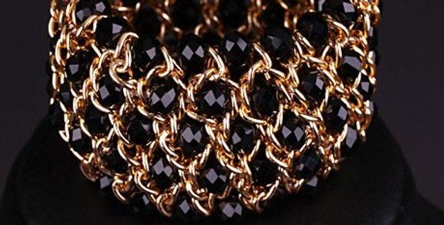 Black & Gold Handmade Bangle