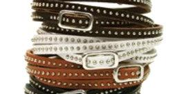 Thin Wrap Around Leather Bracelet