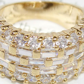 Gold CZ Classy Ring