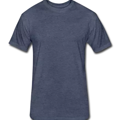 Plain Fitted Cotton/Poly T-Shirt by Next Level