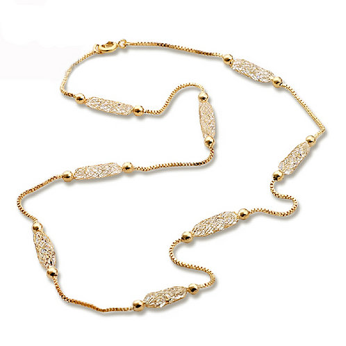 Classy Crystal Gold Plated Necklace