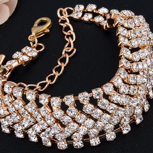 Valentine Girl Bling Bracelet (Gold)