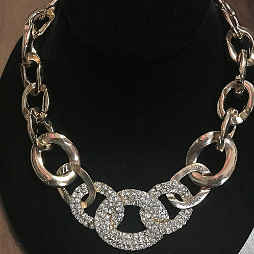 Twisted Bling Necklace