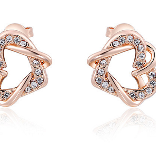 Beautiful High Quality Double Heart Earrings