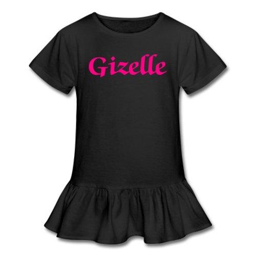 Custom Name Ruffle T Shirt (Toddler)