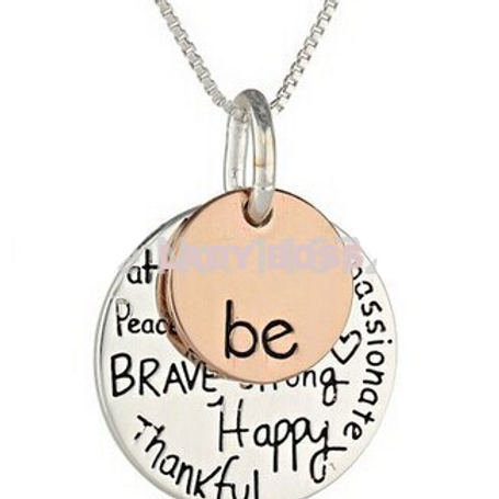 Wishful Pendant Necklace (Be Happy...)