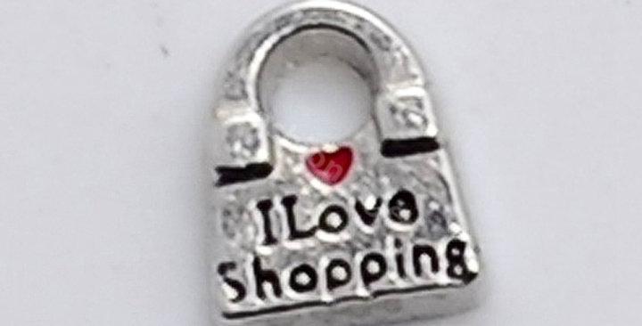 I Love Shopping Charm
