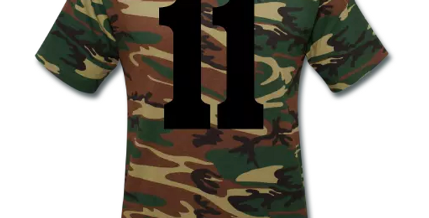 Lucky 11 Unisex Camouflage T-Shirt