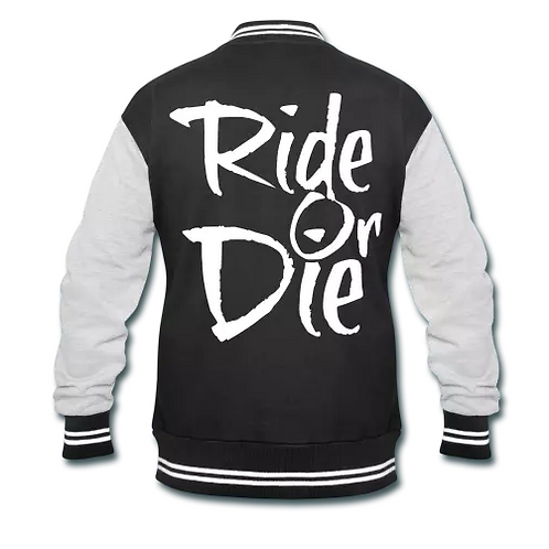 Ride Or Die Men's Varsity Sweatshirt Jacket
