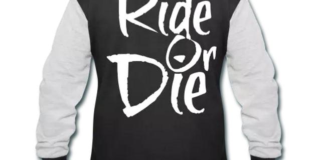 Ride Or Die Men's Varsity Sweatshirt Jacket