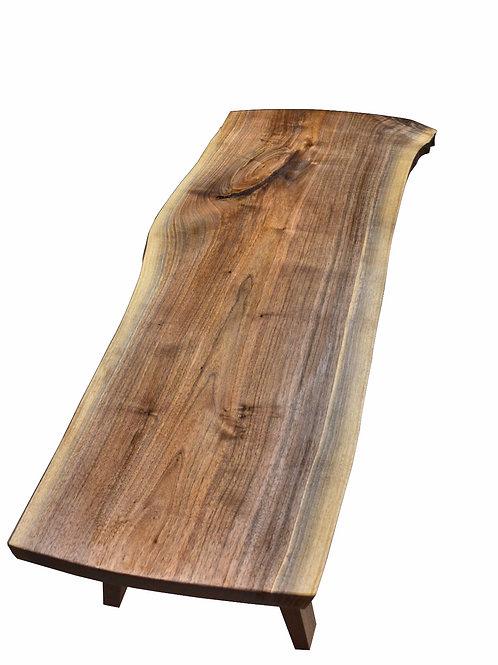 Live Edge Walnut slab Coffee table mid Century mod