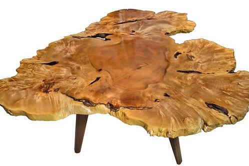 Modern LIVE EDGE SLAB coffee table