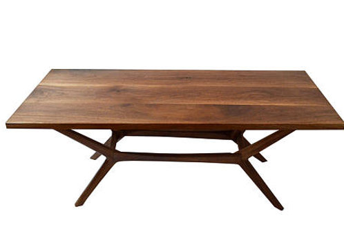 """MOBILI ARCHITET"" Mid Century Dining table, Solid Walnut Designer Series"
