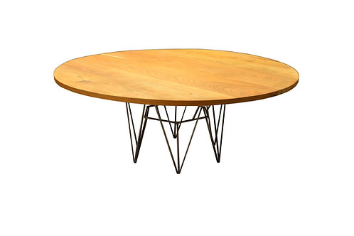"""40"""" round Cherry table, Modern table base"""