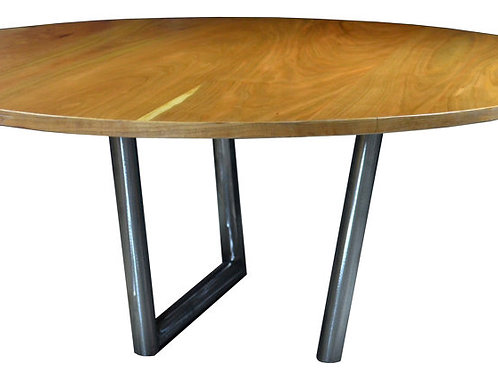 "Round Cherry coffee table, 36"" x 16""H"