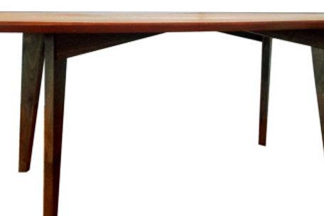 Coffee table, Mahogany, Walnut legs, Mid century M