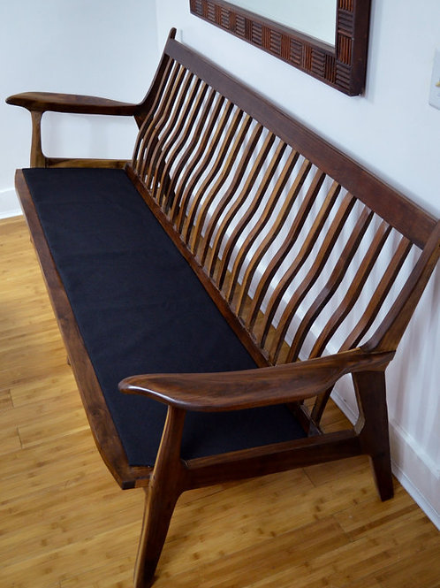 Solid Walnut Couch or Bench