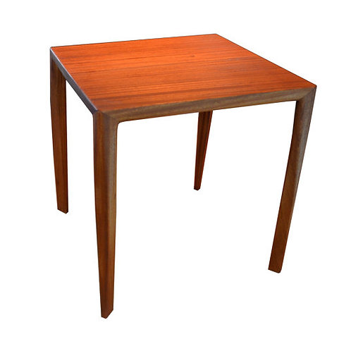 Mid Century Modern Side table, Ribbon stripe Mahogany