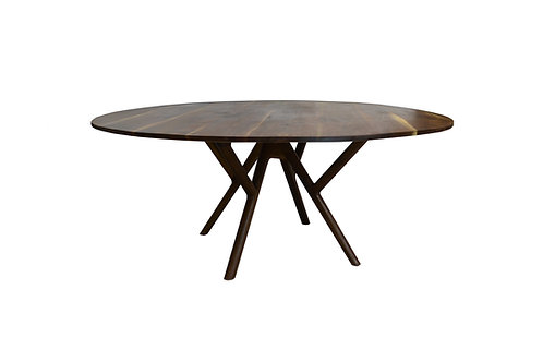 "Ava's table- 54"" round Solid Walnut Mid Century Dining table"