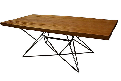 Steel Base Side Table/Coffee Table