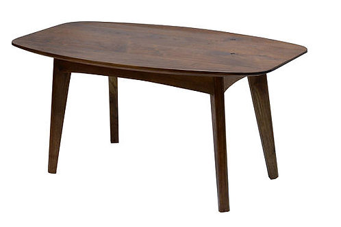 COPENHAGEN Mid Century Modern Solid Walnut Coffee Table