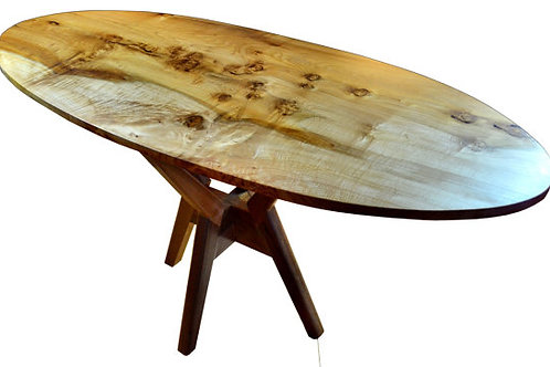 Oval table, Big Leaf Maple, Oval MidCentury modern