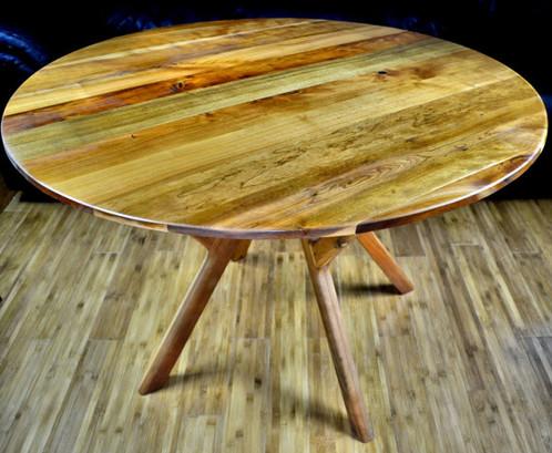"""Modern Furniture Vt 40"""" round, mid century modern, cherry   vermont mid-century modern"""