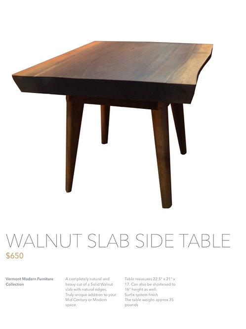 Walnut Slab Side Table
