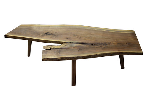 Walnut Slab Coffee table Mid Century