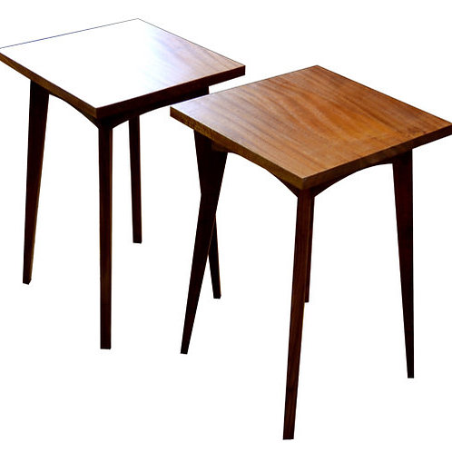 Sapele African Mahogany&Walnut side tables