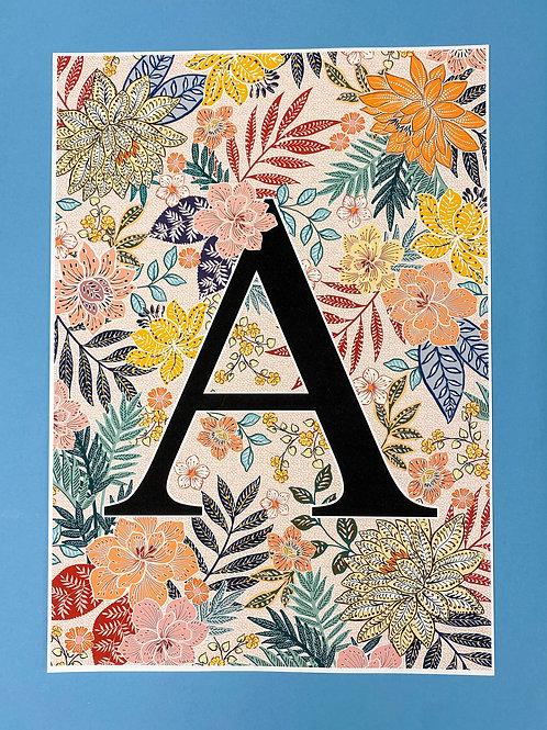 A Indonesian Alphabet A3