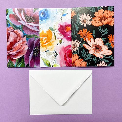 Set of 3 Floral Cards