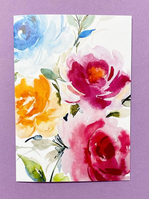 Floral Card - single