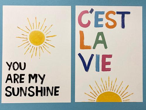 C'est La & Sunshine Set A4