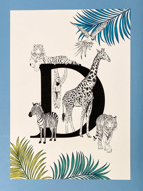 D Animal Alphabet A3