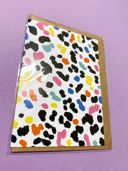 Leopard print Card - Wrapped