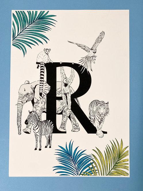 R Animal Alphabet A3