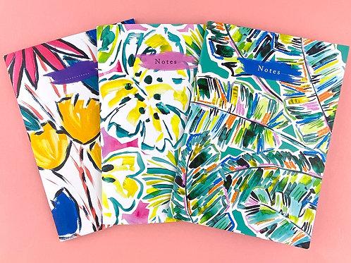 Playful Tropics Notebook set