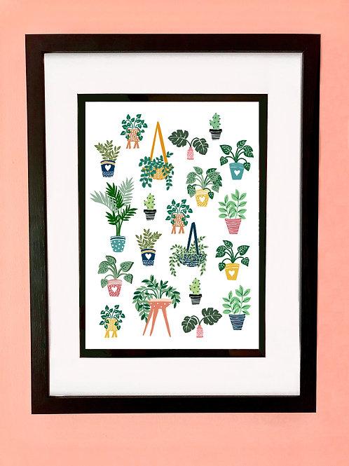 House Plant Wall Art