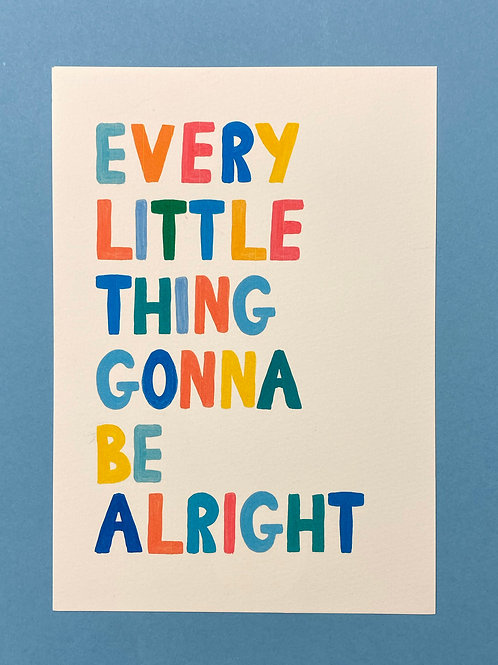 Everything Little Thing...A5 (Print lines)