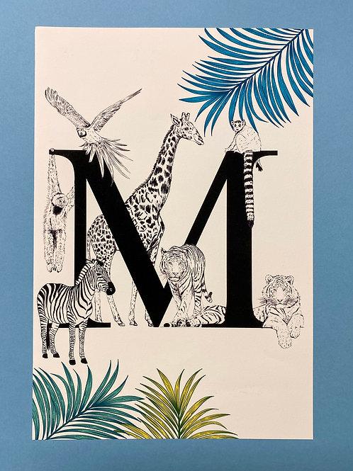 M Animal Alphabet A4